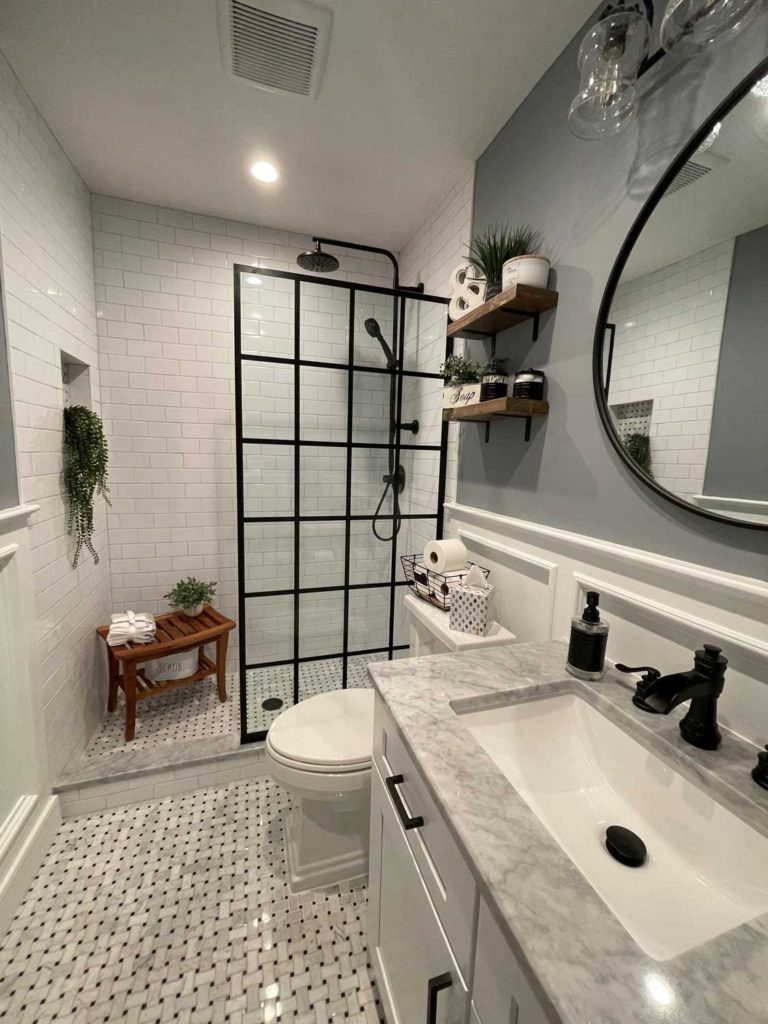 Tiling bathroom floors and shower/bathroom walls